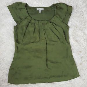 Dressbarn Green Blouse Size Small